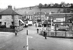 Radstock 1955 showing the central two level crossings, copyright the Frith Collection
